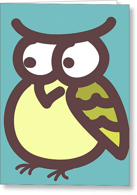 owl Greeting Card by Nursery Art