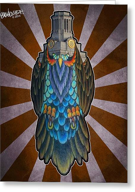 Owl Of The Tower Greeting Card