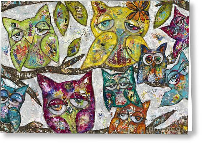 Owl Together Greeting Card by Kirsten Reed