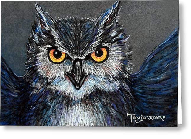 Owlish Greeting Card by Tanja Ware