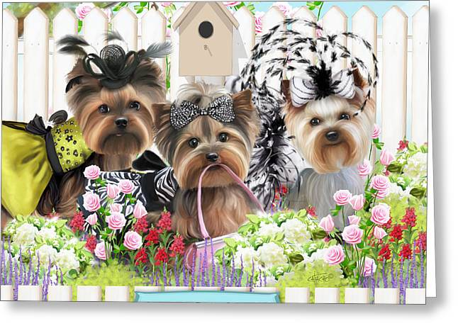 Owned By Yorkies II Greeting Card