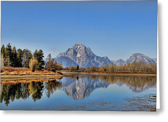 Greeting Card featuring the photograph Oxbow Bend by David Armstrong