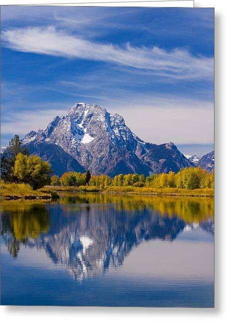 Oxbow Bend Greeting Card by Mark Kiver