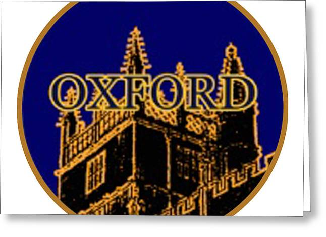 Oxford 1986 Art2579oa Jgibney The Museum Zazzle Gifts Greeting Card by The MUSEUM Artist Series jGibney