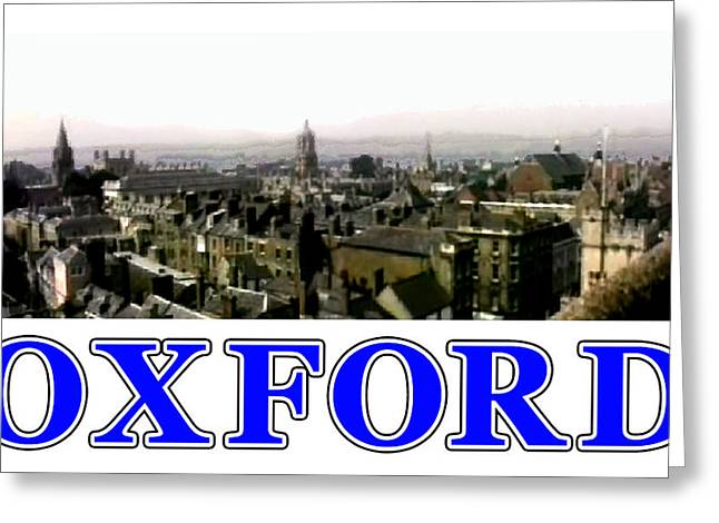 Oxford Snapshot Panorama Rooftops 2 Jgibney The Museum Zazzle Gifts Greeting Card by The MUSEUM Artist Series jGibney