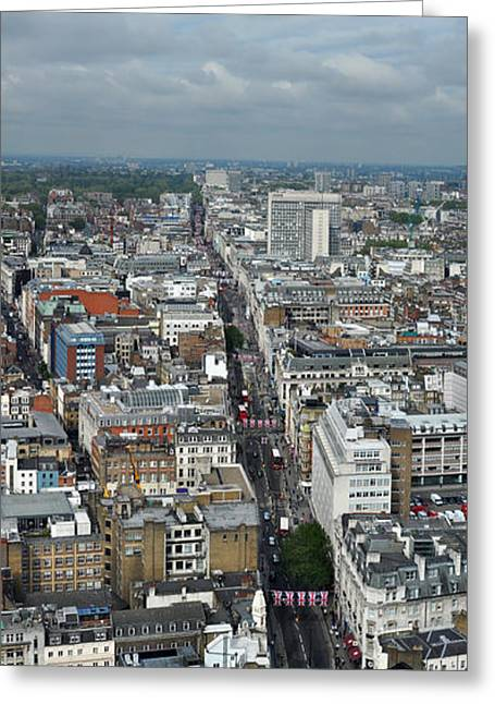 Oxford Street Vertical Greeting Card