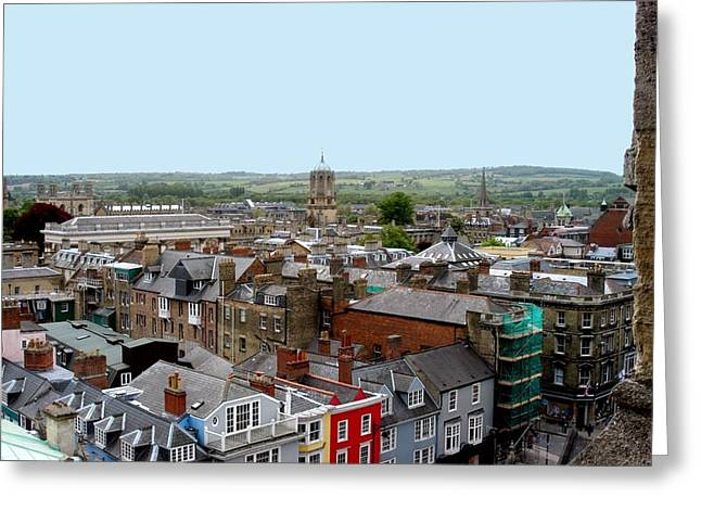 Oxford Town Greeting Card by Joseph Yarbrough