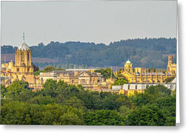 Oxford University Panorama Greeting Card by Ken Brannen