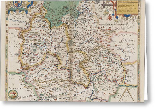 Oxfordshire And Berkshire Greeting Card by British Library