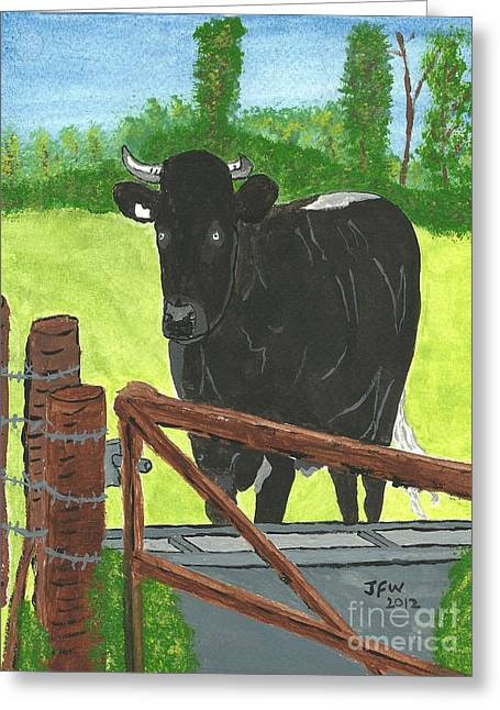 Oxleaze Bull Greeting Card