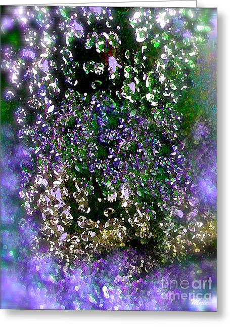 Oxygen Bubbles And Fizz Greeting Card by Saundra Myles