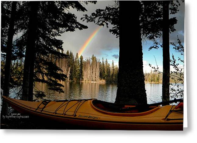 Oyama Lake - Kayaking Greeting Card