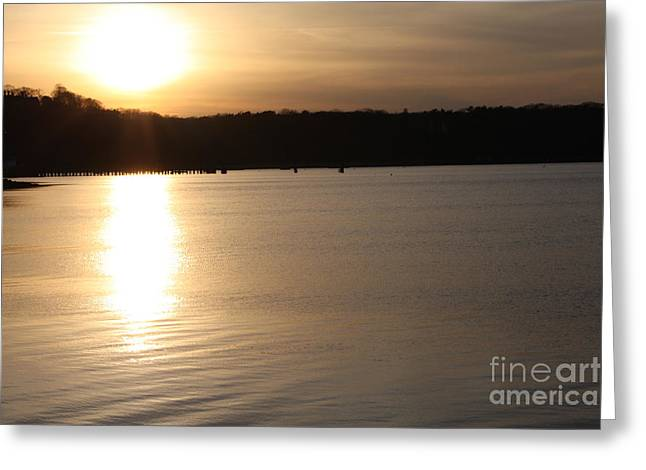 Oyster Bay Sunset Greeting Card by John Telfer