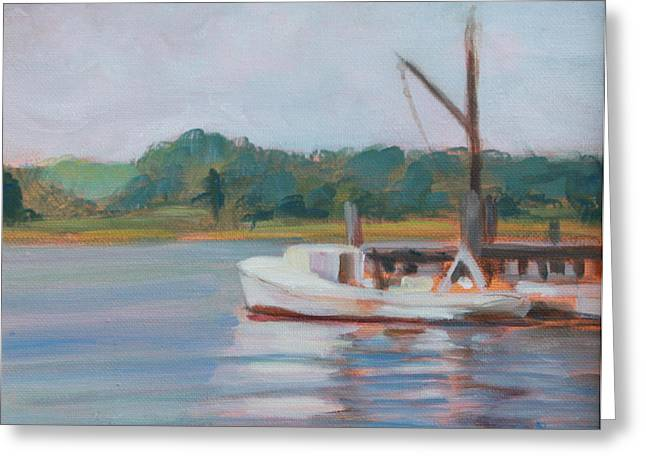 Oyster Boat On The Chesapeake Greeting Card