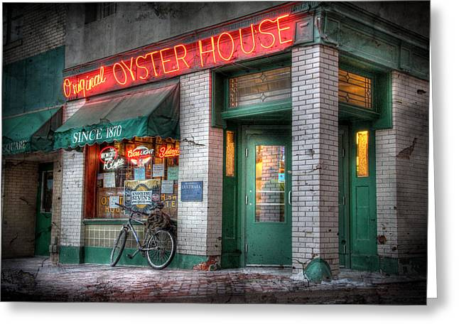 Oyster House Greeting Card by Lori Deiter