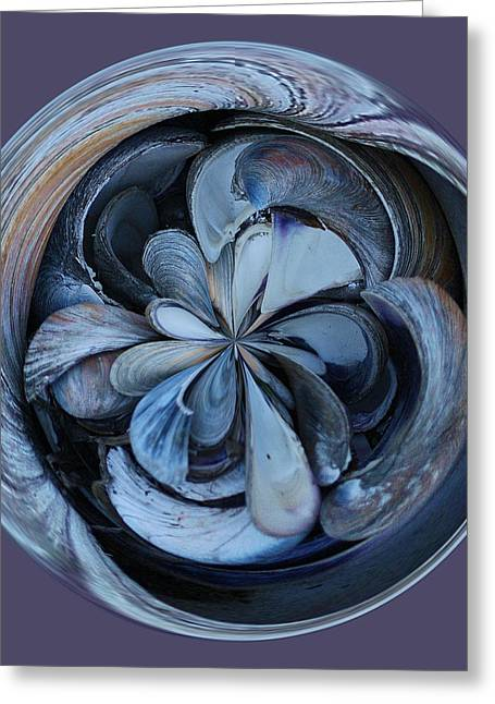 Oyster Shell Orb Greeting Card by Paulette Thomas