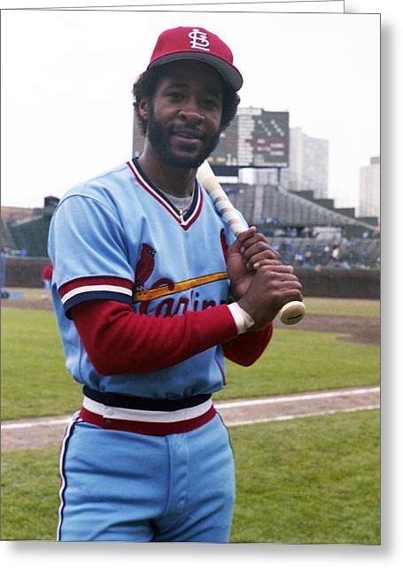 Ozzie Smith By George Brace Greeting Card by Retro Images Archive