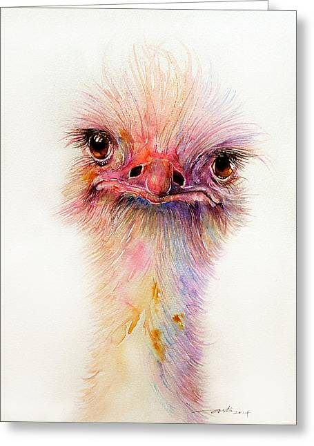 Ozzy The Ostrich Greeting Card