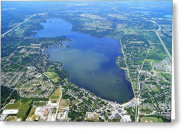 P-024 Pewaukee Lake Waukesha Co. Wisconsin Greeting Card