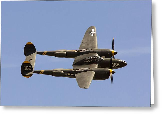 P-38 Lightning Greeting Card by John Daly