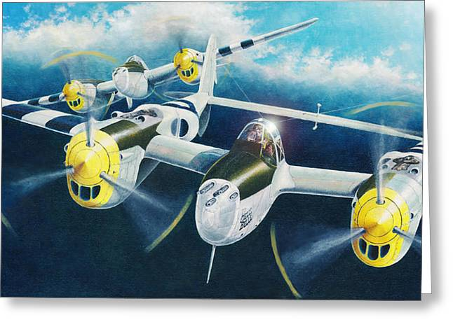 P-38 Lightnings Greeting Card