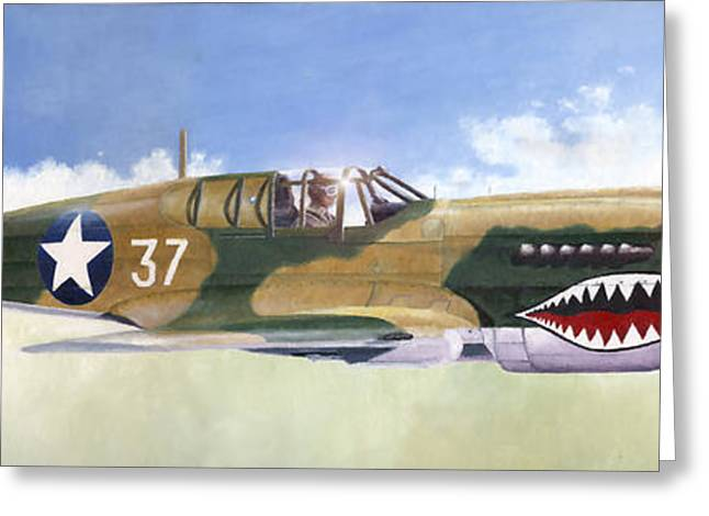 P-40e Warhawk Greeting Card
