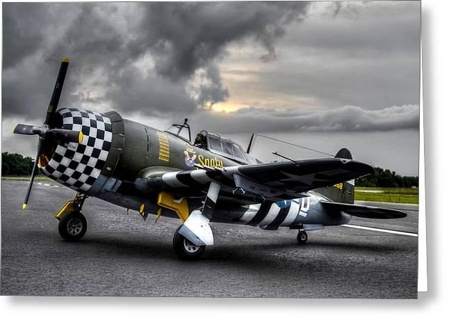 P-47 Sunset Greeting Card