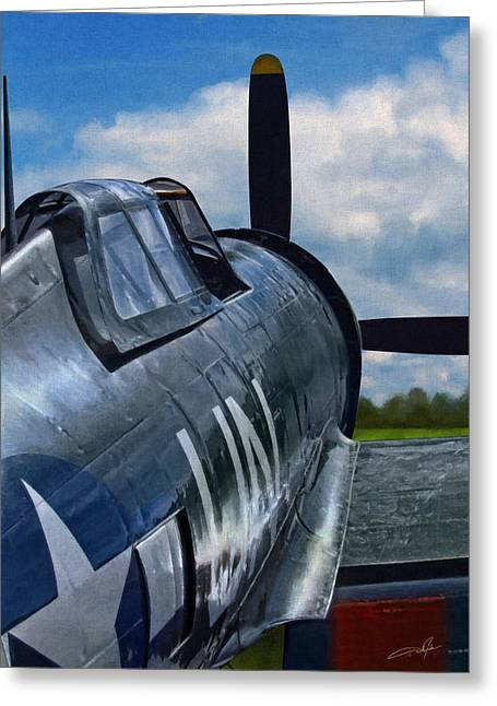 P-47 Thunderbolt Greeting Card by Dale Jackson