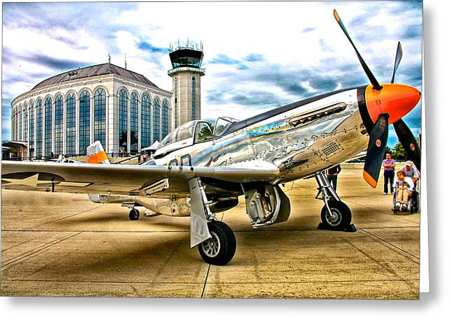 P-51 At Dupage Greeting Card by Chas Burnam