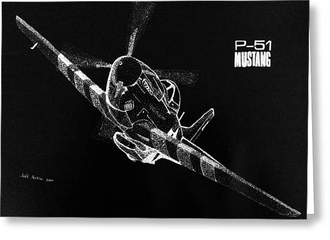 P-51 Fly By Greeting Card