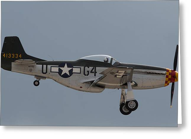 P-51 Landing Configuration Greeting Card