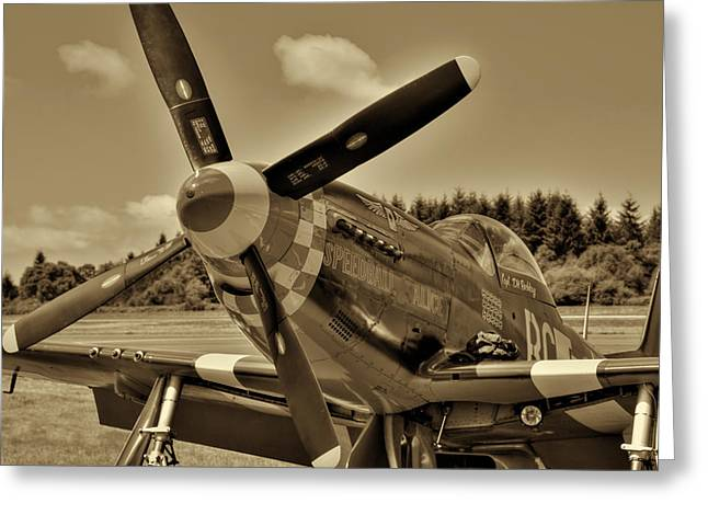 P-51 Mustang II Greeting Card by David Patterson