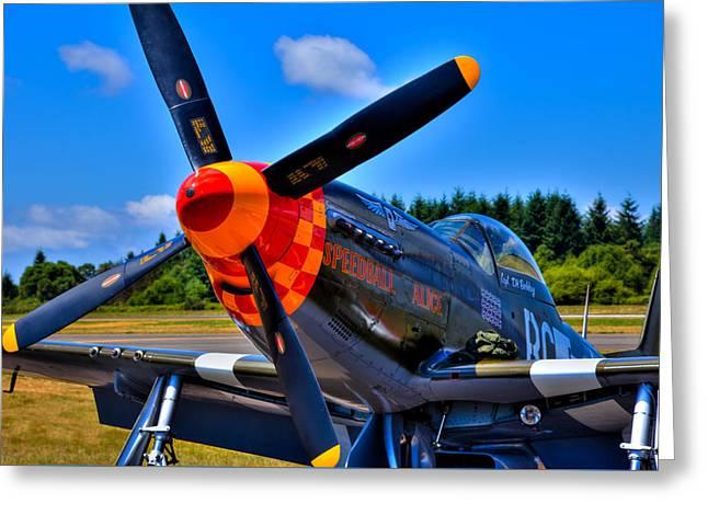 P-51 Mustang - Speedball Alice Greeting Card