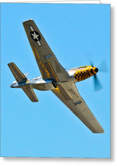 P-51 Mustang Wing Over Greeting Card