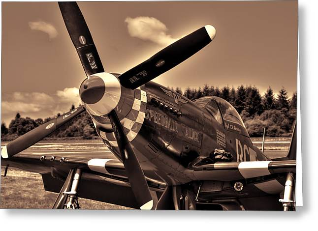 P-51 Speedball Alice Greeting Card by David Patterson