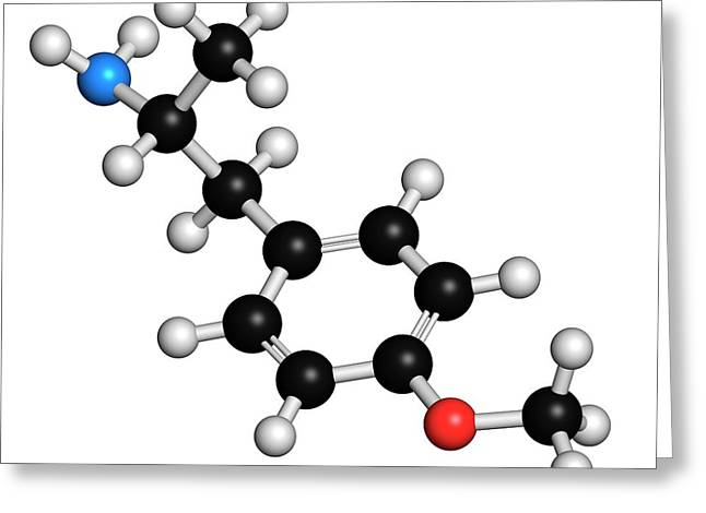 P-methoxyamphetamine Hallucinogenic Drug Greeting Card by Molekuul
