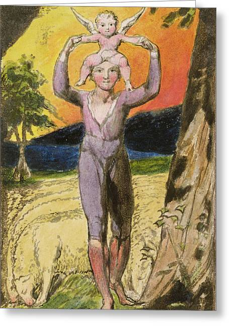 P.124-1950.pt29 Frontispiece To Songs Greeting Card by William Blake
