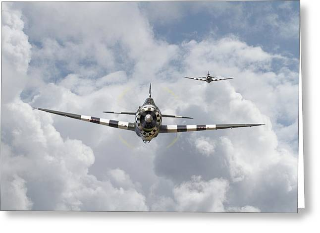 P47 D - Thunderbolt Greeting Card
