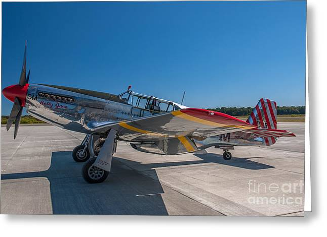 P51 Mustang  Greeting Card by Dale Powell