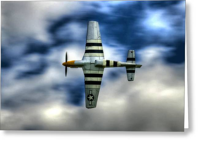 P51d Mustang Ferocious Frankie Greeting Card by Phil 'motography' Clark