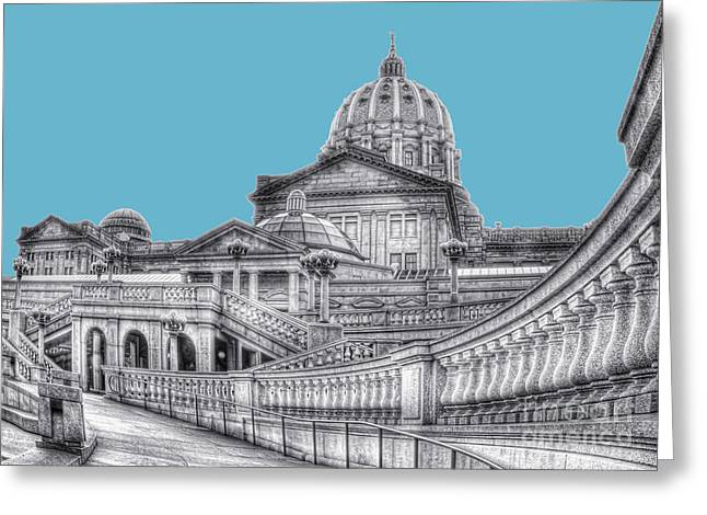 Pa Capitol Building Greeting Card