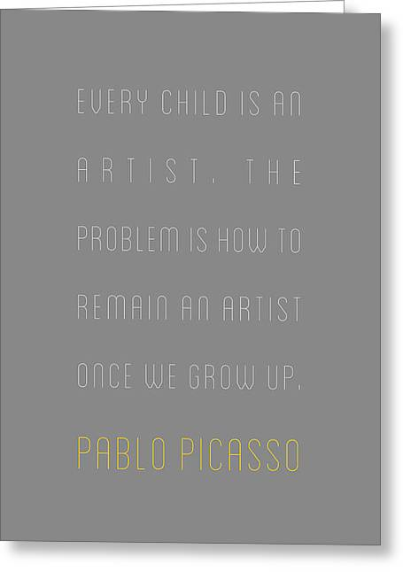 Pablo Picasso - Every Child Is An Greeting Card