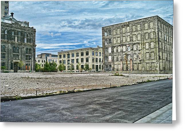 Pabst Brewery Abandonded Seen Better Days Pabst In Milwaukee Blue Ribbon Beer Greeting Card by Lawrence Christopher