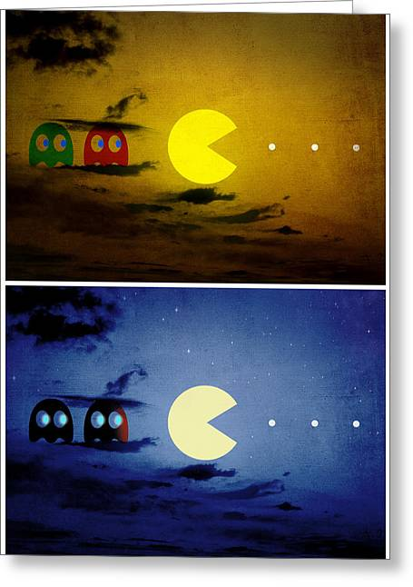 Pac-scape Vertical Diptych Greeting Card