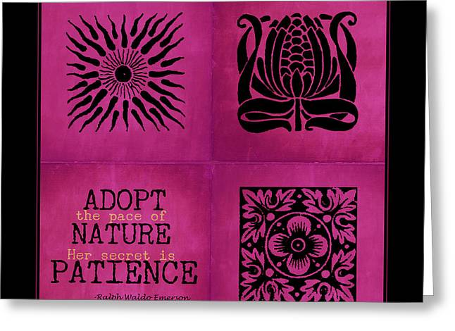 Pace Of Nature Greeting Card by Bonnie Bruno