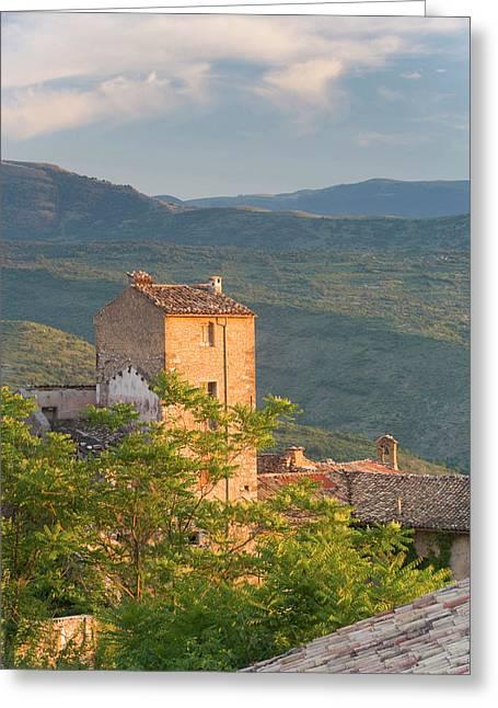 Pacentro Near Sulmona, Abruzzo, Italy Greeting Card