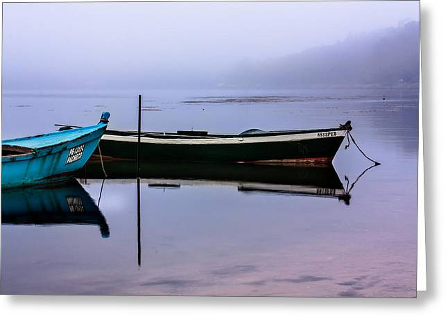 Pacheco Blue Boat Greeting Card