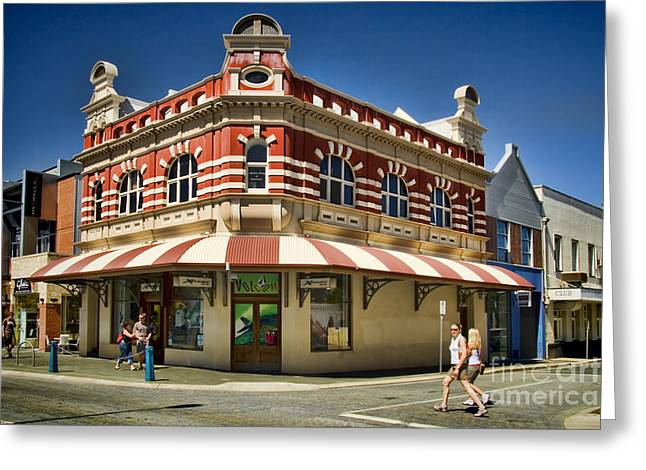 Pacific And Orient Hotel Fremantle Greeting Card by David Smith