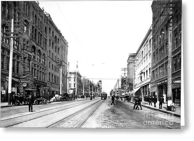 Pacific Avenue Tacoma 1907 Greeting Card