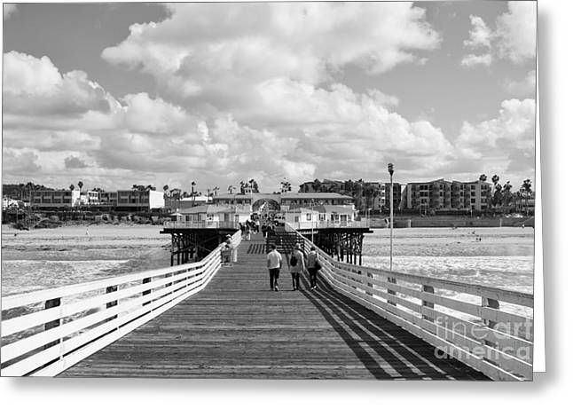 Pacific Beach From Crystal Pier Greeting Card